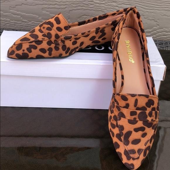 BAMBOO Shoes | Leopard Print Flats